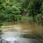 Ile maurice innondations février la paralysie total de l activité y compris le meridien bar ferm