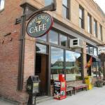 The Swift Creek Cafefaces 2nd Street East, which is US 93 passing through Whitefish, Montana