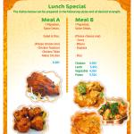SPECIAL LUNCH MENU