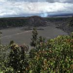 Looking from another lookout with crater in the foreground