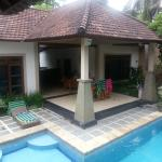 View from pool of 2-bedroom deluxe villa