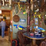 Port A Seafood has an colorful small dinning area