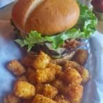 The RAWR burger & tots - you won't be disappointed