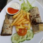 Lamb Kebab with fries