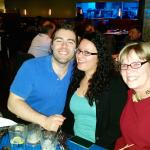 Anita, Matt and Becky at Blue Acre Restaurant