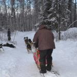 Sandi and Musher, Jerry, head out for the trails.