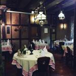La salle du restaurant avec son magnifique parquet