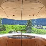 Hotel Jungbrunn, Tannheimer Tal, Tirol, 3D Bergsauna mit Ausblick