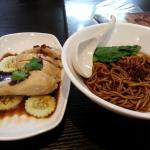 Steam Hainanese Chicken with Noodles