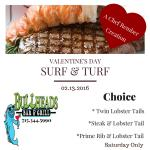 Valentine's Day Surf N Turf Special