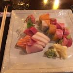 Sashimi and Real Rainbow Roll
