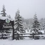 Nakusp sign.....Lots of snow