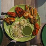 Mixed kabab platter