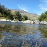 El río Rico, donde paramos para almorzar