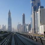 Dubai vista dal metro