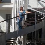 Escalera de Caracol, para subir a lo que era el bar