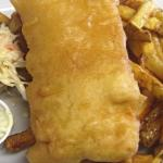 Fish and Chips. Serving Halibut and Haddock