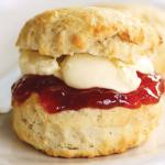 the ever populare scones, jam and cream