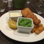 Hummus, Fish and Chips
