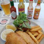 Fish and chips very generous and delicious also.