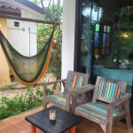 Bungalow, Strand und Restaurant