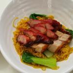 Char siew and crackled pork belly noodles