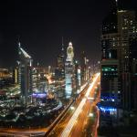 Blick aus dem 45. Stock, bei Nacht
