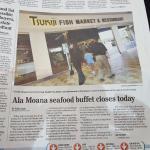 Newspaper Article of Closure