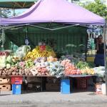 Stand à l'extérieur du marché couvert