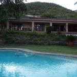 Lodge from pool