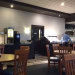 Breakfast buffet area in reception
