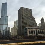 Chicago City mix of old & new architecture.