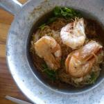 Shrimps mit Nudeln