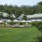 Main building with all facilities inc 2 restaurants, pools etc