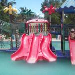 pool and water slides