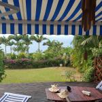 Vu de la terrasse bungalow 2 pers
