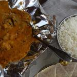 Tak-Taka Andhra Madras with Lamb and coconut base, served with basmati rice.