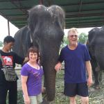 Rich and I with Rosukon and Pug, her dedicated mahout