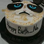 """Grumpyish""cat birthday cake!"