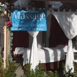 On site massage table.