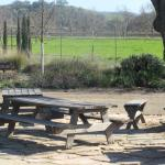 Outdoor Tables, Clautiere Vineyard, Paso Robles, Ca