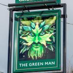 Green Man, Shepreth, sign