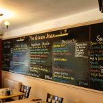 Green Man, Shepreth, menu board