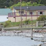 Lodge vom strand aus