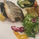 Seabass Fillet with spinach and garlic