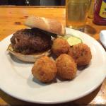 Meatloaf sandwich and fried mashed potato balls-awesome!!! Carpe diem!!!