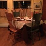 Seating in our dining room. This table wasn't available long!