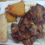 Seafood Combo Platter (Hidden Rice + Coleslaw+Mac Salad Under)