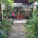 Part of the garden, and the dining area