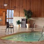 Hot tub and sauna...
